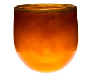 Vase ovale GAIL Verre, orange - Ø18