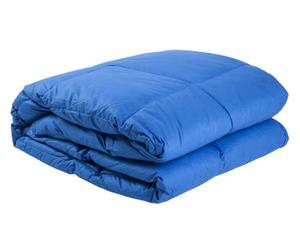 Édredon réversible MARMOLADA Plumes d'oie et duvet, Bleu - 180*260