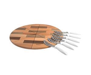 Planche à découper et 6 Couteaux à pizza - Ø41