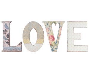 Décoration murale LOVE, Multicolore - 30*40
