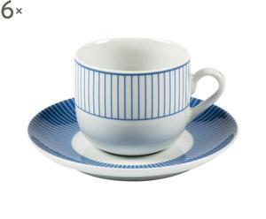 Service à café Porcelaine, Azur