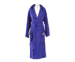 Peignoir avec capuche Velours, Bleu - L/XL