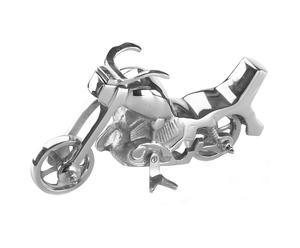 Figurine Moto, aluminium