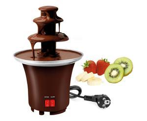 Fontaine à chocolat Plastique et Inox, Brun - H22