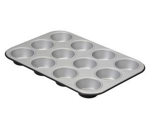 Moule à muffins Acier NOEL, Noir - L26