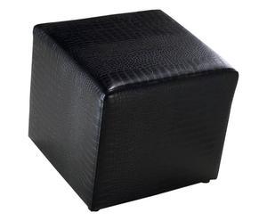 Pouf Eco-cuir, Noir - H39