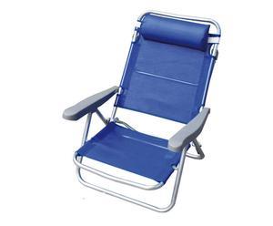 Siège pliant VIOLA Acier et textilène, Bleu - L55