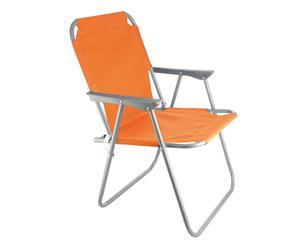 Siège pliant LEILA Fer et tissu, Orange - L54