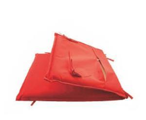 Coussin de chaise pliante Polyester, Rouge - L90