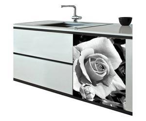 Sticker Rosa PVC, Blanc et noir - 70*60