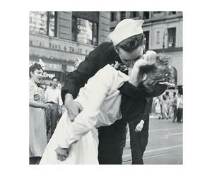 Impression sur bois WARS AND KISS, Noir et blanc - 26*26