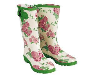 Paire de bottes pour jardinage GARDEN ROSES, Caoutchouc - Multicolore