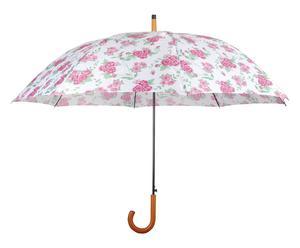 Parapluie GARDEN ROSES Nylon et Métal, Blanc et rose - Ø120