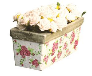 Bac à fleurs GARDEN ROSES Céramique, Multicolore - H16