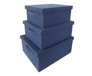 3 Boîtes - Bleu