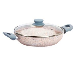 Sauteuse lauranne granite de quartz rose et aluminium, gris - Ø24