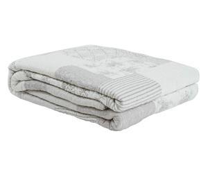 Dessus de lit Coton et Polyester, Gris – 260*180