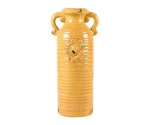 Vase Céramique, Jaune - H47
