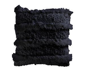 Coussin Fourrure synthétique, Noir  - 40*40