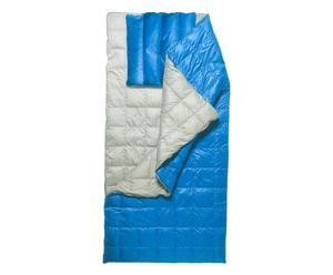Sac de couchage, Nylon et plumes d'oie - Gris et bleu