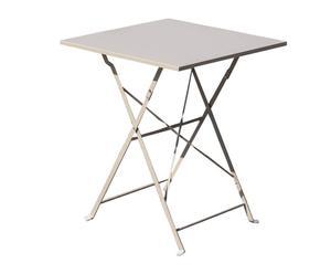 TABLE DE JARDIN MÉTAL VERNI, SABLE - H72