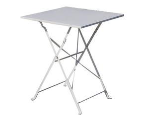 TABLE DE JARDIN MÉTAL VERNI, BLANC - H72