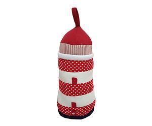 Boudin de porte Tissu, Blanc et rouge - H31