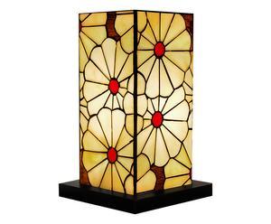 Lampe à poser COLUMN verre et bois, multicolore - H38