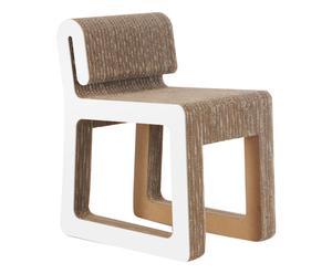 Chaise HOOK carton et bois, beige et blanc - L40