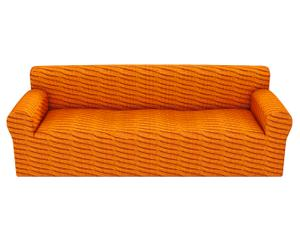 Housse de canapé OTHELLO polyester et coton, orange - L150-200