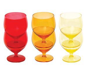6 Verre à vin FITTING verre, multicolore - 35 cL