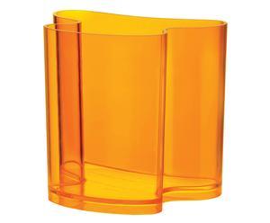 Vase décoratif ISOLA verre acrylique, orange - L34