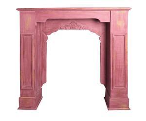 Manteau de cheminée JOLIE bois de paulownia, rose - L101