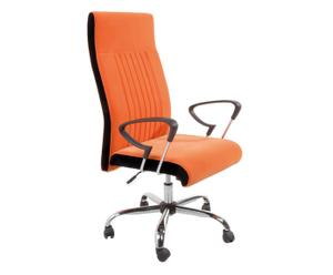 Fauteuil de bureau, noir et orange - H122