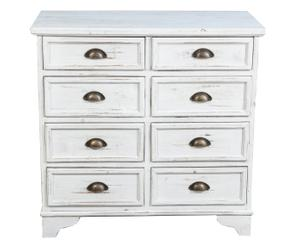 Commode IRIS bois, blanc antique - L83