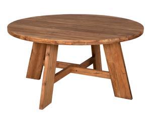 Table de jardin, teck brossé - Ø75