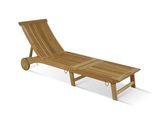 Chaise longue, teck - L206