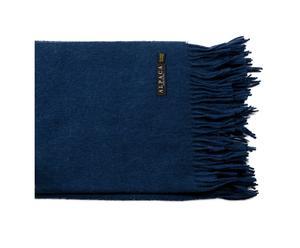 plaid alpaga, bleu marine - 130*180