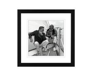 PHOTOGRAPHIE ENCADRÉE SAILING BOIS ET PLEXIGLAS, NOIR - 30*30