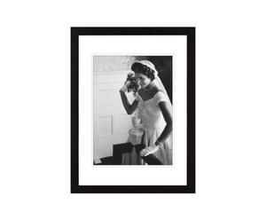 PHOTOGRAPHIE ENCADRÉE WEDDING BOIS ET PLEXIGLAS, NOIR - 40*30