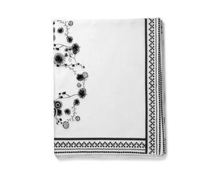 Nappes ornament coton, blanc et noir - 150*250