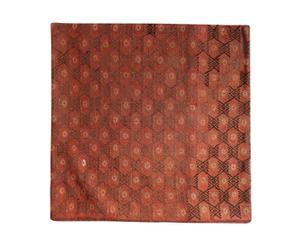 Housse de coussin zahra 100% laine, rouge et marron - 70*70