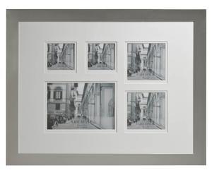 Cadre photos LOLA métal et verre, argenté et transparent - 51*40