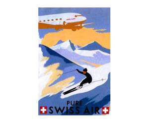 Impression sur toile PURE SWISS AIR - 40*60
