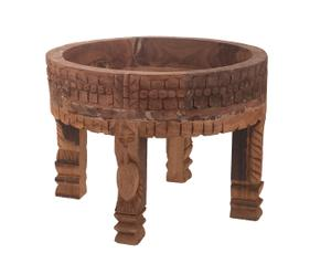 Table d\'appoint, naturel - Ø45
