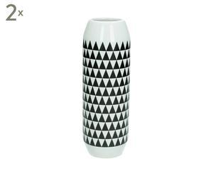 2 Vases, blanc et noir - H22