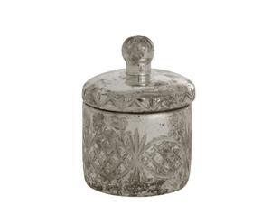 Pot à coton métal, argenté - Ø12