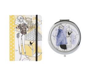 2 carnets et 1 miroir de poche - L'artiste
