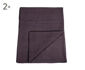 2 Couvre-lits Coton, Gris - 240*280