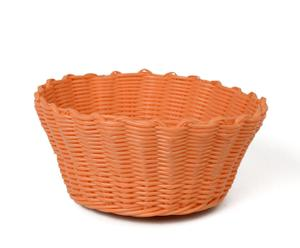 Corbeille Plastique, Orange - Ø22